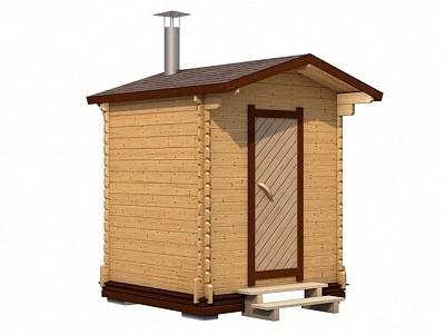 Мобильная баня 2х2.2 из проф. бруса