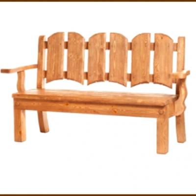 Скамейка 150 см с подлокотниками