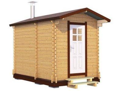 Мобильная баня 3.5х2.2 из проф. бруса