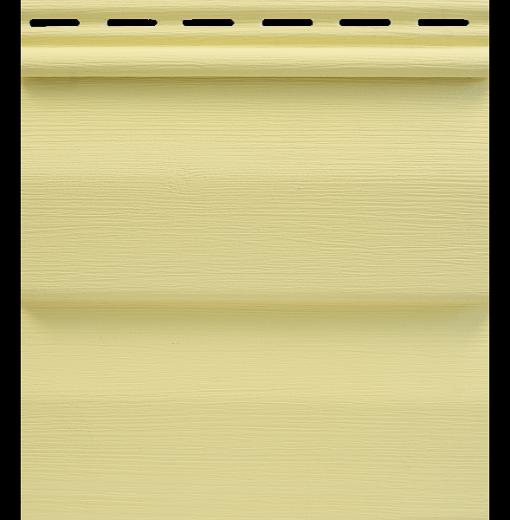 Сайдинг Tecos Ardennes Корабельный Брус - Светло-желтый 110