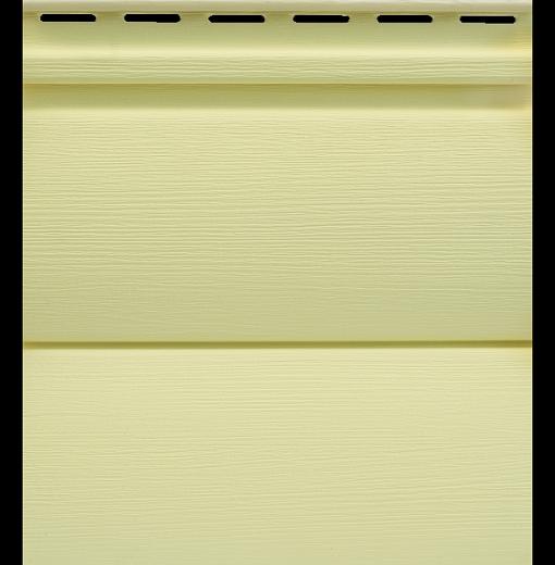 Сайдинг Tecos Двойной оцилиндрованный брус - Светло-желтый 110
