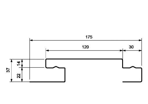 Планка наборная (наличник), H-Профиль Grand Line