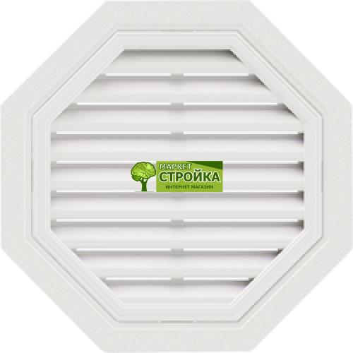 Восьмиугольная фронтонная вентиляционная решетка - Белая