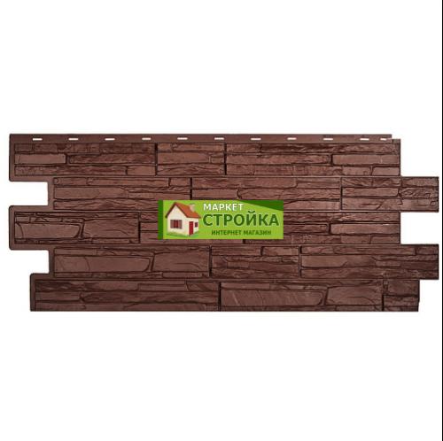 Цокольный сайдинг Техоснастка (Т-сайдинг) Альпийская сказка - Коричневый