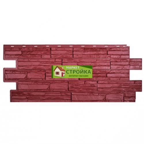 Цокольный сайдинг Техоснастка (Т-сайдинг) Альпийская сказка - Красный