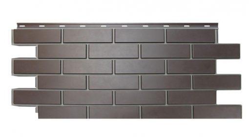 Фасадные панели NordSide Гладкий кирпич - Коричневый
