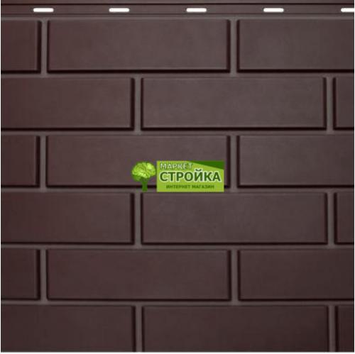 Фасадные панели NordSide Гладкий кирпич - Темно-коричневый