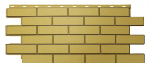 Фасадные панели NordSide Гладкий кирпич - Желтый