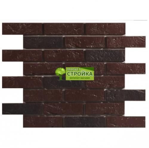 Фасадные панели Wandstein Кирпич - Темно-коричневый