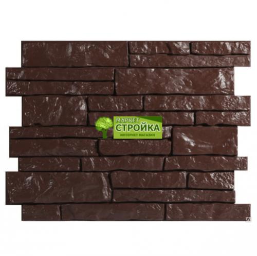 Фасадные панели Wandstein Парфир - Темно-коричневый