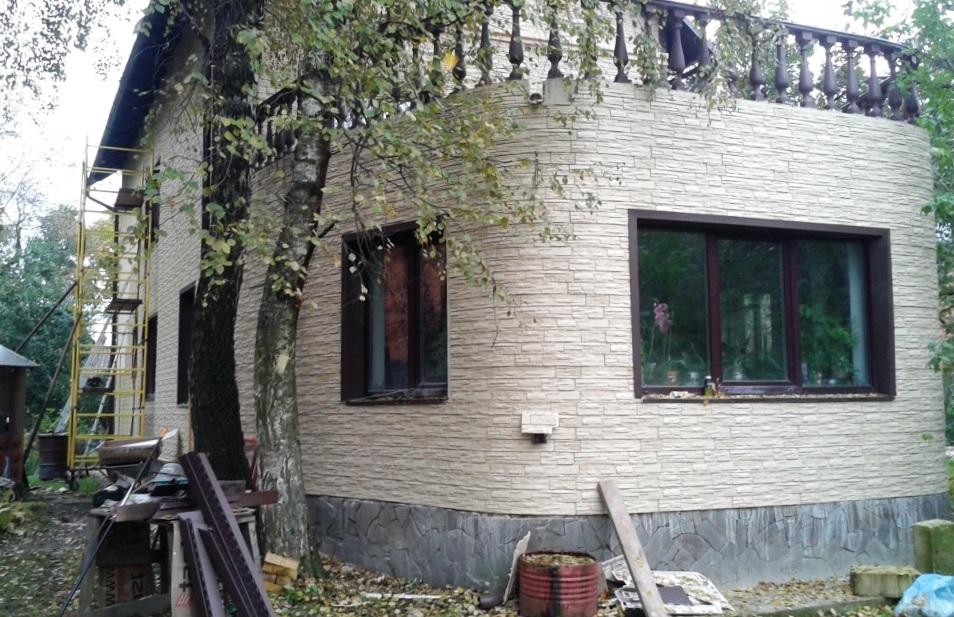 Фасадные панели Wandstein Скол белый
