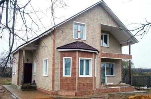 Фасадные панели Wandstein Скол Светло-бежевый и Светло-коричневый