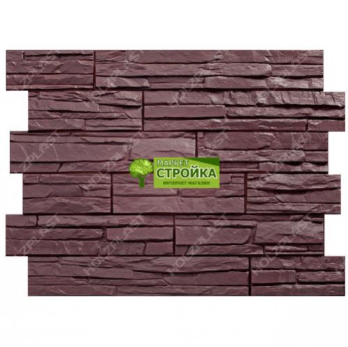 Фасадные панели Wandstein Скол - Темно-коричневый