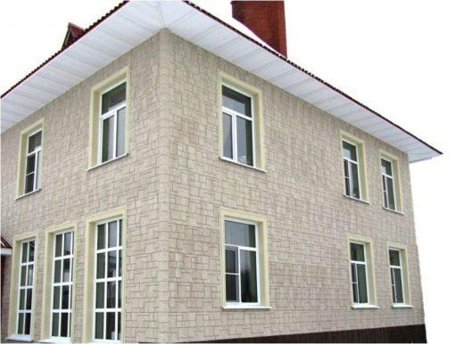 Фасадные панели Wandstein Туф Белый