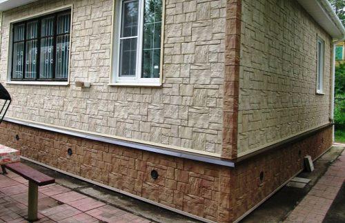 Фасадные панели Wandstein Туф Белый и Светло-коричневый