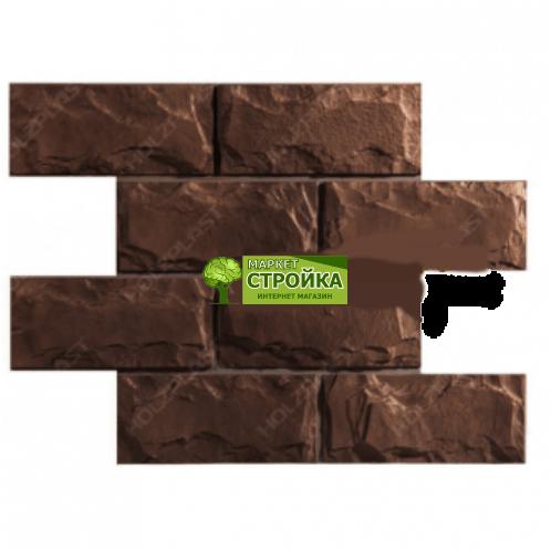 Сайдинг цокольный WANDSTEIN, Доломит — Темно-коричневый