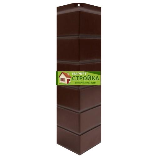 Угол NordSide Гладкий кирпич - Темно-коричневый