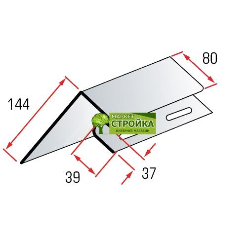 Околооконная планка Альта-Профиль для сайдинга BlockHouse