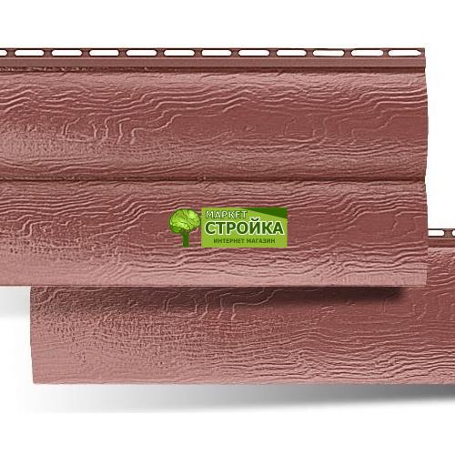 Сайдинг Альта-Профиль BlockHouse - Красно-коричневый