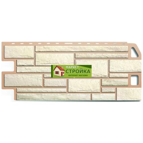 Фасадные панели Альта-Профиль Камень - Белый
