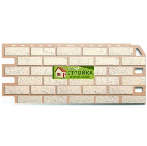 Фасадные панели Альта-Профиль Кирпич - Белый