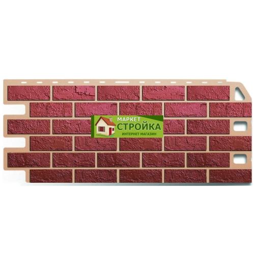 Фасадные панели Альта-Профиль Кирпич - Красный