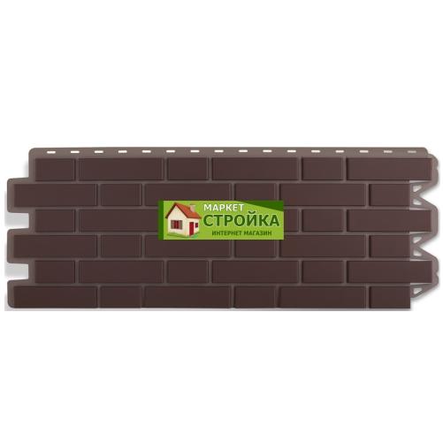 Фасадные панели Альта-Профиль Кирпич клинкерный - Коричневый