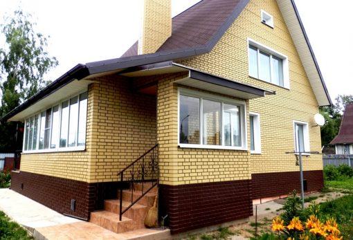 Фасадные панели Альта-Профиль Кирпич клинкерный - Жёлтый и Коричневый