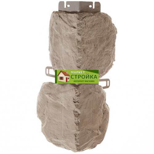 Наружный угол Альта-Профиль Бутовый камень - Нормандский