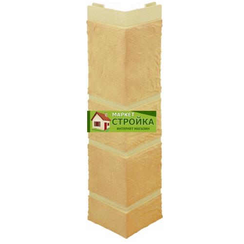 Наружный угол Альта-Профиль Камень - Жёлтый