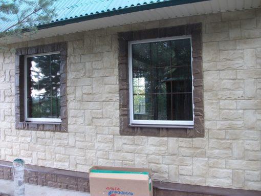 Отделка фасада - фасадные панели Альта Профиль Гранит Крымский, Альпийский
