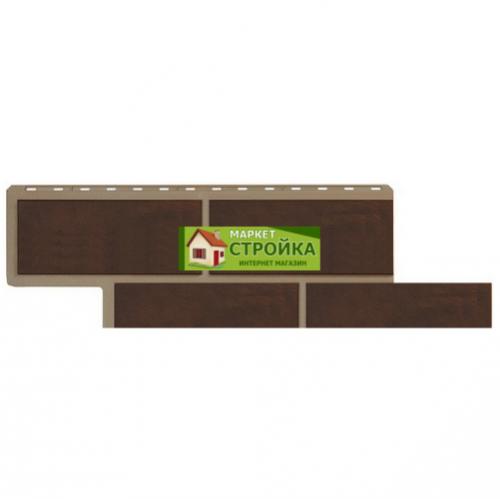 Фасадные панели Альта-Профиль Флорентийский камень - Коричневый