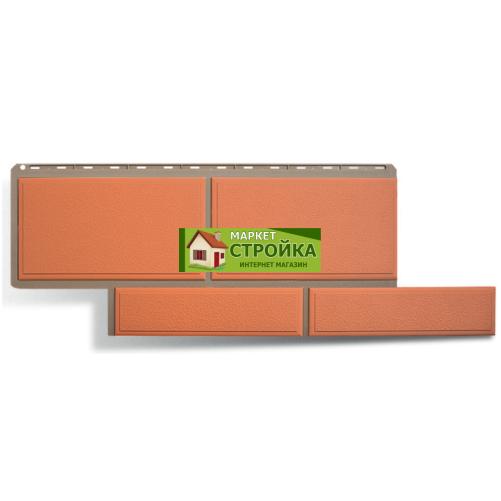 Фасадные панели Альта-Профиль Флорентийский камень - Терракотовый
