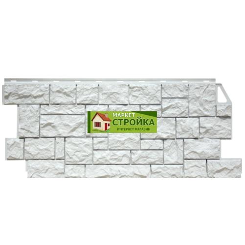 Фасадные панели FineBer Дикий камень - Мелованный белый