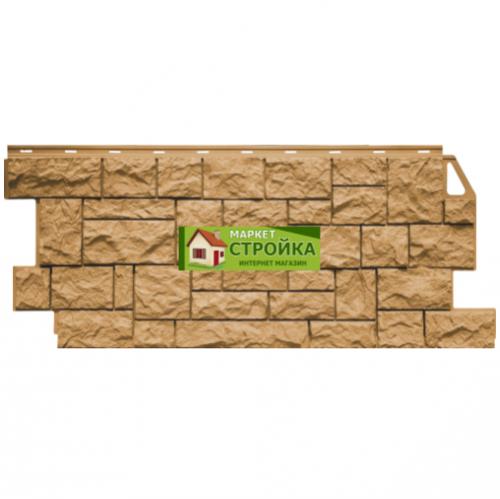 Фасадные панели FineBer Дикий камень - Песочный