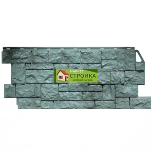 Фасадные панели FineBer Дикий камень - Серо-зелёный