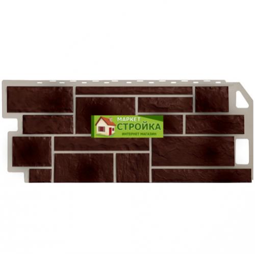 Фасадные панели FineBer Камень - Коричневый