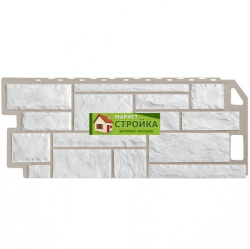 Фасадные панели FineBer Камень - Мелованный белый