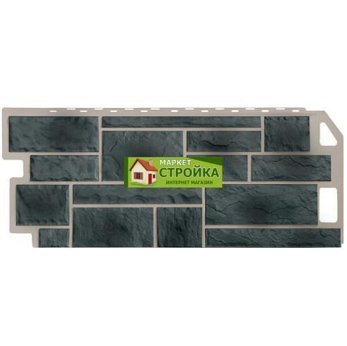 Фасадные панели FineBer Камень - Серо-зелёный