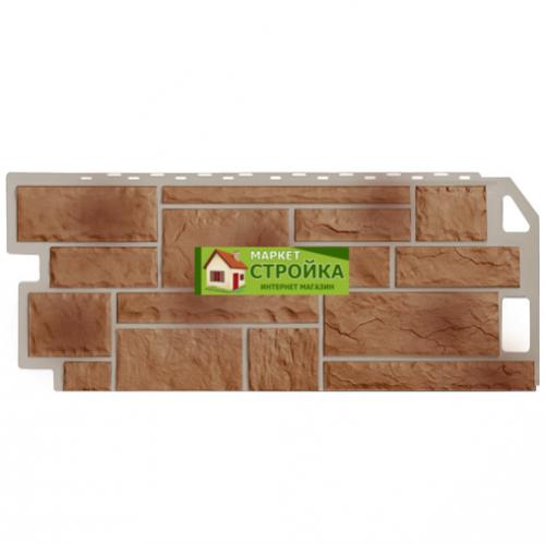Фасадные панели FineBer Камень - Терракотовый