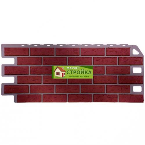 Фасадные панели FineBer Кирпич - Красный обожжёный