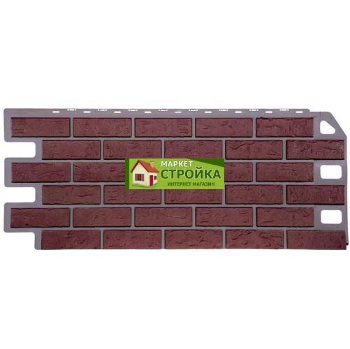 Фасадные панели FineBer Кирпич - Красный