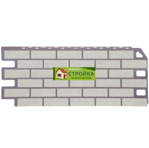 Фасадные панели FineBer Кирпич - Мелованный белый