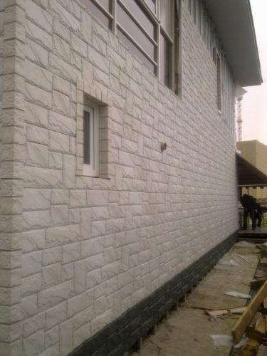 Фасадные панели FineBer Крупный камень Мелованный белый