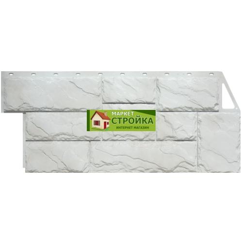 Фасадные панели FineBer Крупный камень - Мелованный белый