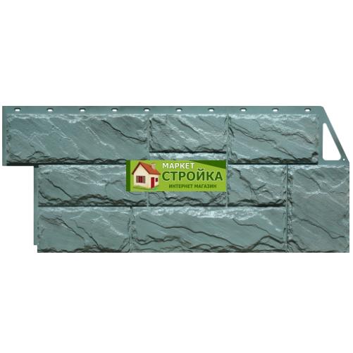 Фасадные панели FineBer Крупный камень - Серо-зелёный