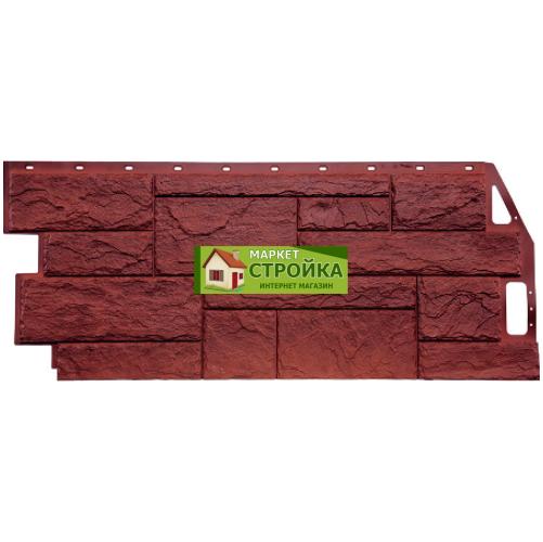 Фасадные панели FineBer Природный камень - Красно-коричневый