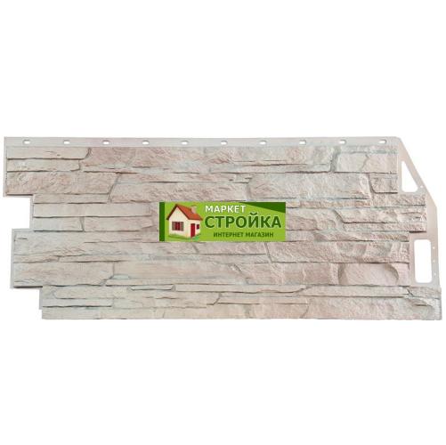Фасадные панели FineBer Скала - Мелованный белый