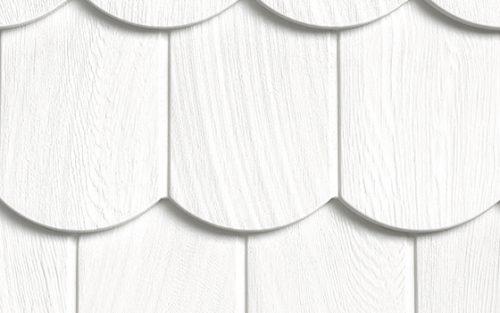 Фасадные панели Foundry Чешуя Кольчуга - цвет Белоснежный