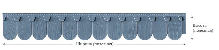 Фасадные панели Foundry Чешуя Круг